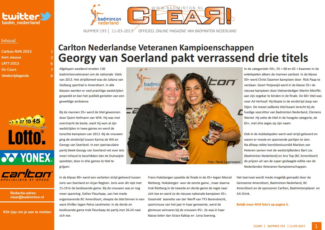 Clear 193 is uit!
