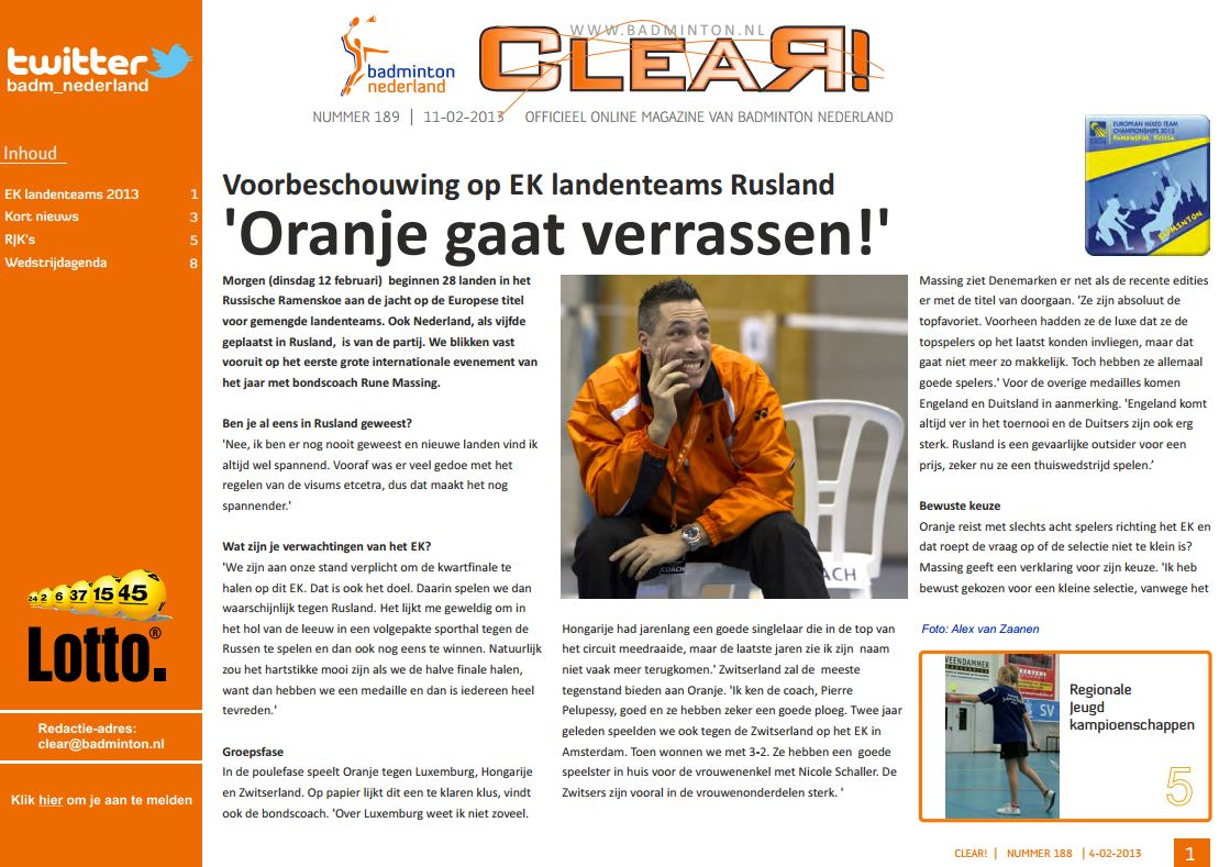 Clear 189 is uit!
