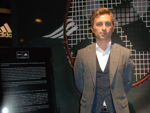 Christophe Dessalles, President KWCC, adidas global Licensee for Badminton