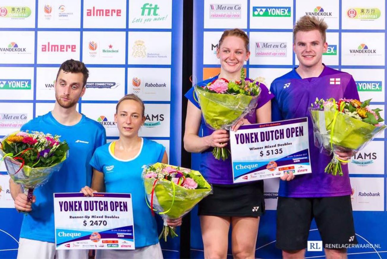 Jacco Arends en Selena Piek runner-up Yonex Dutch Open 2017