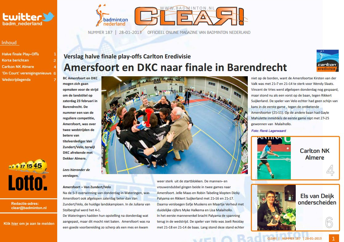 Clear 187 is uit!