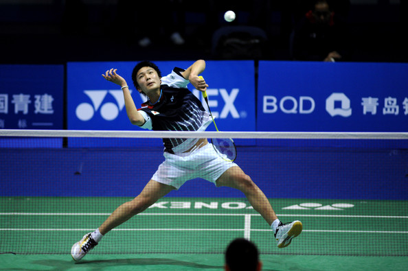 World Junior Champion Kento Momota of Japan took his second title in a row in Europe