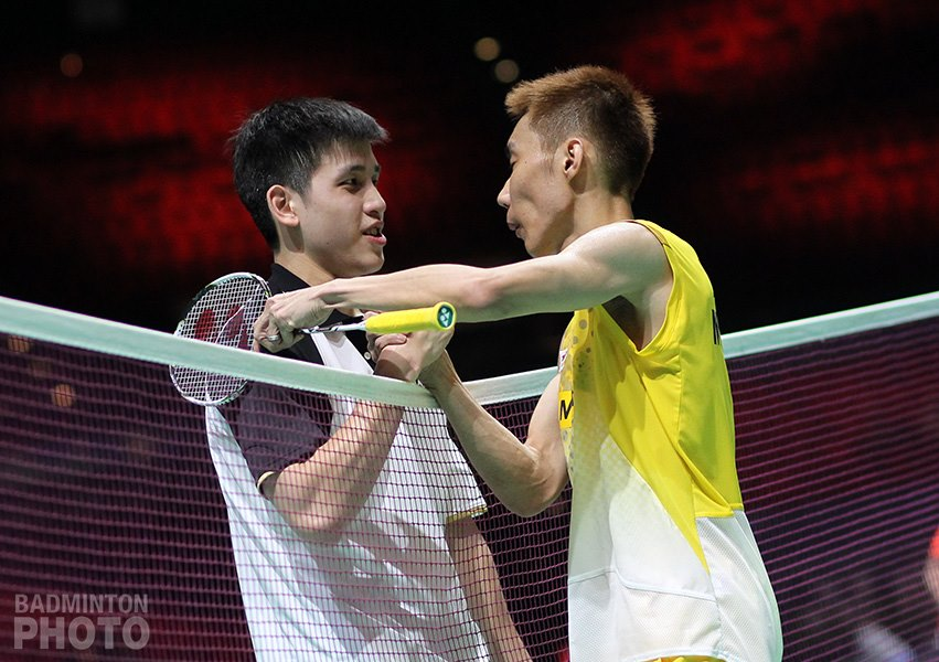 Lee Chong Wei after close win on Wing Ki Wong in first round All England
