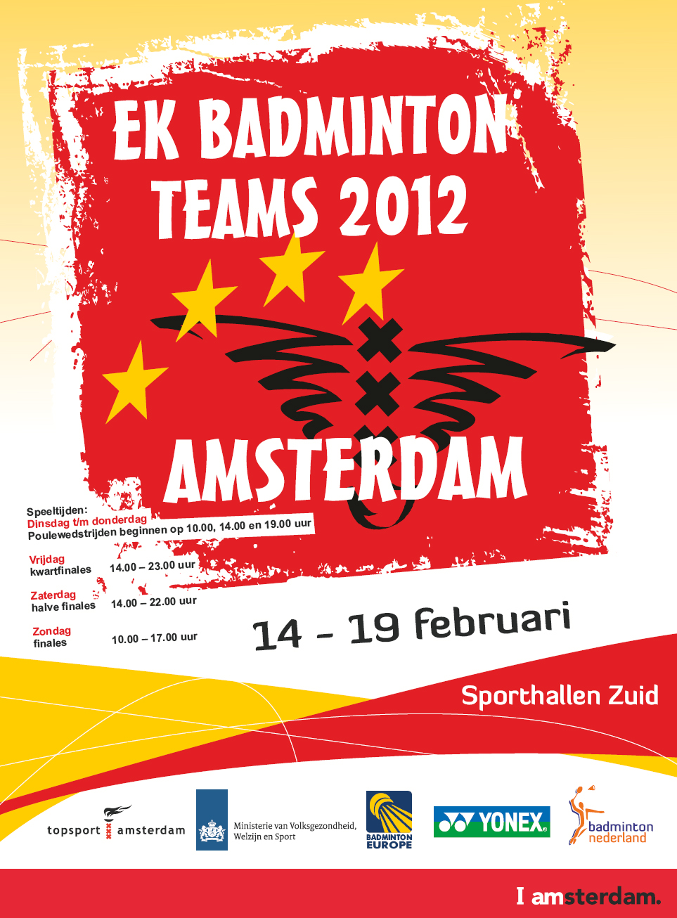 Loting EK Badminton Teams 2012 gunstig voor Nederland