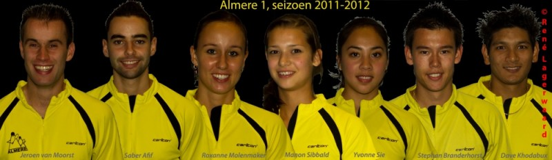 Team Almere in Wateringen zonder Dave Khodabux